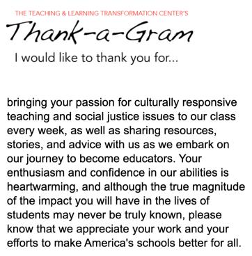 Thank a gram